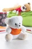 White Teddy Bear  — Stock Photo