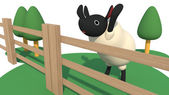 Sheep in the fence — Stock Photo