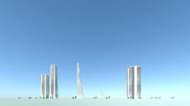都市の建物の開発 — ストックビデオ