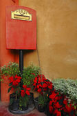 Italian style mailbox with flower — Photo
