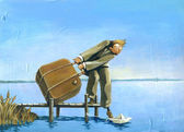 I'm leaving — Stock Photo