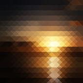 Pixel sunset — Stok Vektör