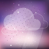 Cloud rain background — 图库矢量图片