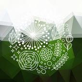 Zelená abstraktní květinové pozadí — Stock vektor