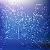 Blå abstarct bakgrund med rutnät — Stockvektor