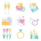 Dating icons — Vector de stock