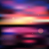 Colorful blurred sunset background — Vector de stock