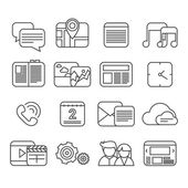 Phone functions icon set — Stock Vector
