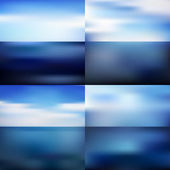 Water blurred background set — Stock Vector