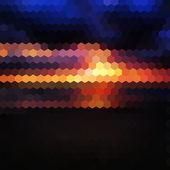 Dark sunset background — Stock Vector
