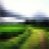 Geometric green landscape — Stockvektor