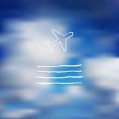 Niebo pocztówka — Wektor stockowy