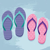 Pair of flip flops — Vecteur