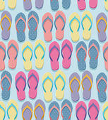 Seamless flip flop pattern — Stock Vector