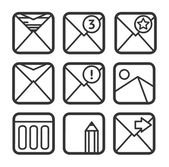 E-mail icons set — Vettoriale Stock