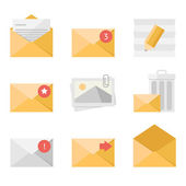 Mail icon set — Vector de stock