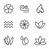 Iconos de la naturaleza — Vector de stock