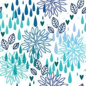 Rain seamless pattern — Stock Vector