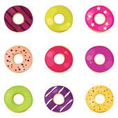 Donuts set — Stock Vector