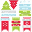 New Year labels — Stock Vector #51012623