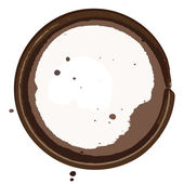 Coffee stain — Stock Vector