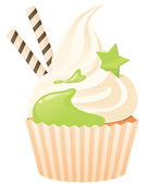 Cupcake with topping — Stock Vector