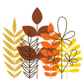 Autumn foliage — Stock Vector