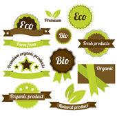 Green labels — Stock Vector