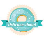 Delicious donut — Stock Vector