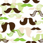 Mustaches pattern — Stock Vector