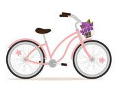 Vélo rose — Vecteur