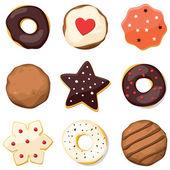 Conjunto dulce — Vector de stock