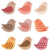 Bird set — Stock Vector