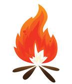 Simple bonfire — Stock Vector