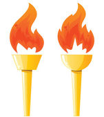 Two torches — Stock Vector