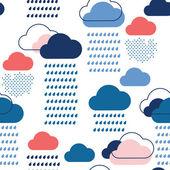 Blue rain pattern — Stock Vector