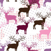 Deers pattern — Stock Vector