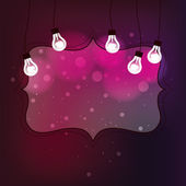 Frame with light bulb — Stock Vector