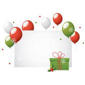 Christmas balloons — Stock Vector