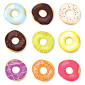 Set of donuts — Stock Vector