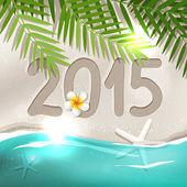 2015 New Year postcard — Stock Vector
