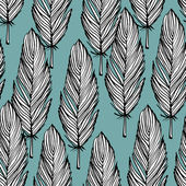 Feather seamless pattern — Stock Vector