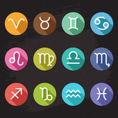 Horoscope icons set — Stock Vector