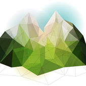 Green abstract mountain — Stock Vector