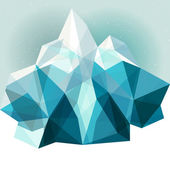 Ice mountain background — Wektor stockowy