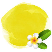 Yellow spa watercolor background — Stock Vector