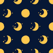 Moon seamless pattern — Stock Vector