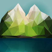 Mountains and lake — Stock Vector
