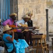 Street musicians in Plaza de la Catedral, HAVANA, CUBA. — Stock Photo #48157679