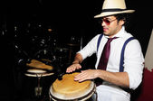 Young male percussionist — Stock Photo